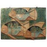 Danish Ceramic Panel Depicting Tropical Fish