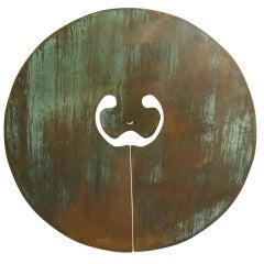 A Bronze Split Gong by Harry Bertoia