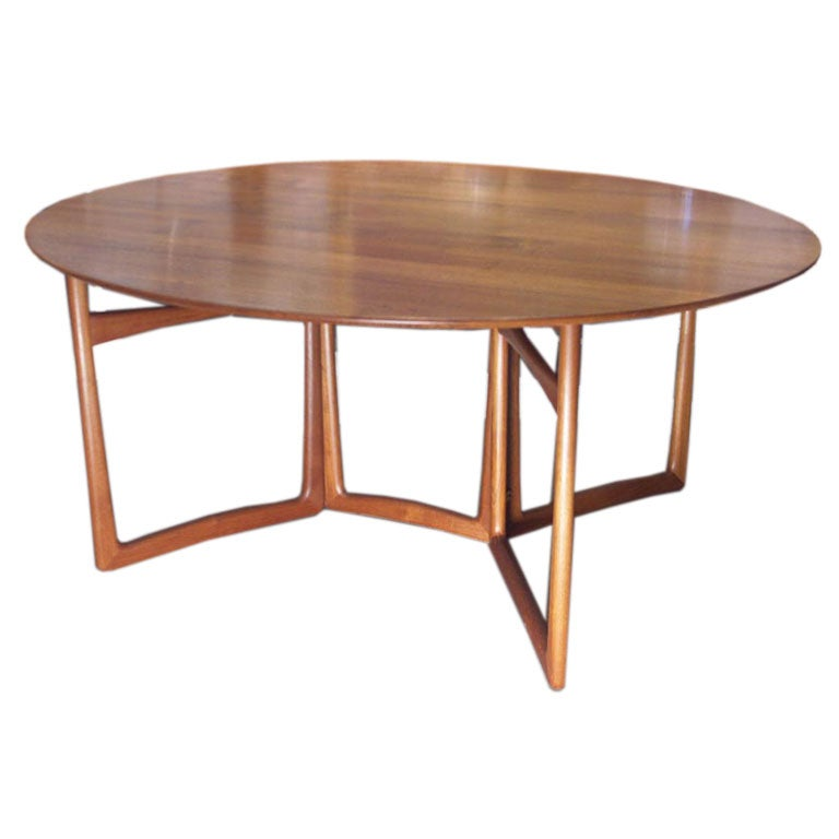 Sheraton Carved Mahogany Drop Leaf Dining Table Circa 1820