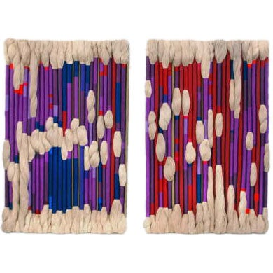 Two Large wall Hanging Textile Pieces by Sheila Hicks