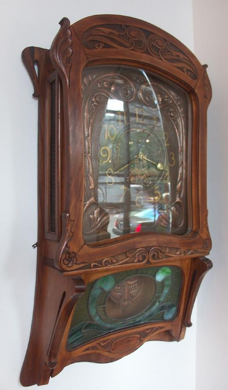 Wall Clock Art Nouveau : Moved permanently
