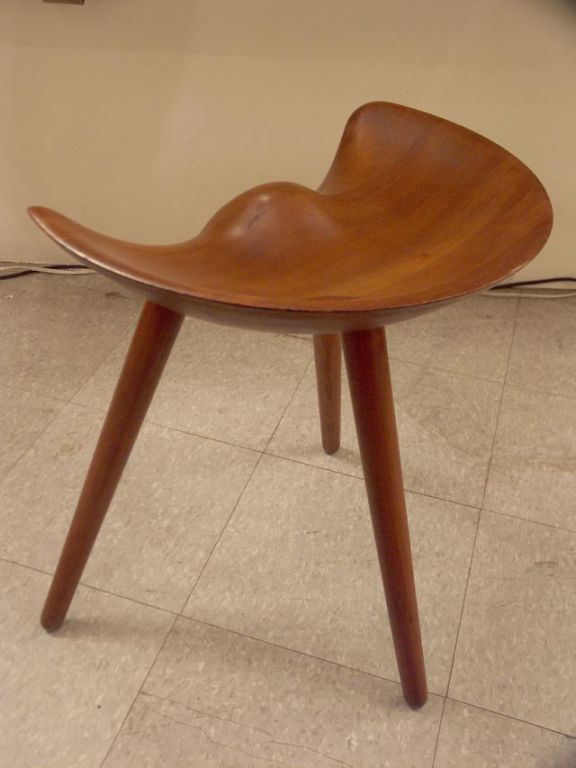 taburet m stool ~ a teak taburet stool by mogens lassen at 1stdibs