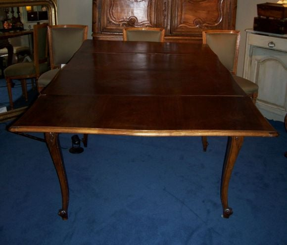 English Rococo Style Walnut Dining Table At 1stdibs