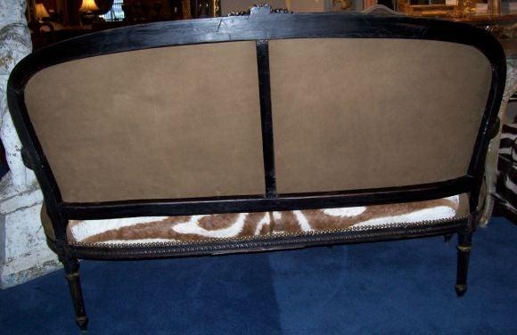 Louis xvi style parcel gilt ebonized and zebra for Canape zebre