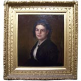 Oil on Canvas Portrait of a Young Victorian Woman