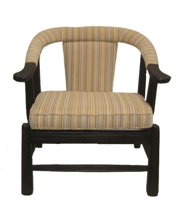 Single 39 monterey style 39 lounge chair at 1stdibs for Single lounge chairs for sale