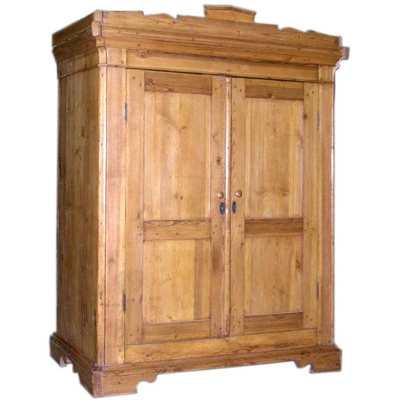 antique armoire wardrobe computer work station at 1stdibs. Black Bedroom Furniture Sets. Home Design Ideas
