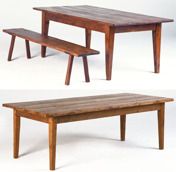 Rustic Farm or Harvest Table For Sale at 1stdibs