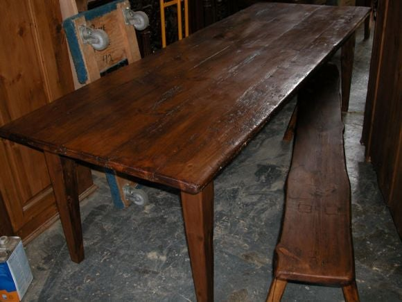 Rustic farm or harvest table at 1stdibs for Rustic farm tables for sale