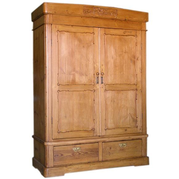 art nouveau armoire 1890 39 s at 1stdibs. Black Bedroom Furniture Sets. Home Design Ideas