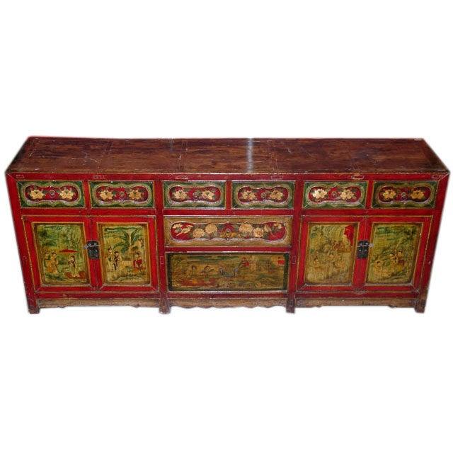 Antique Mongolian Sideboard, Server