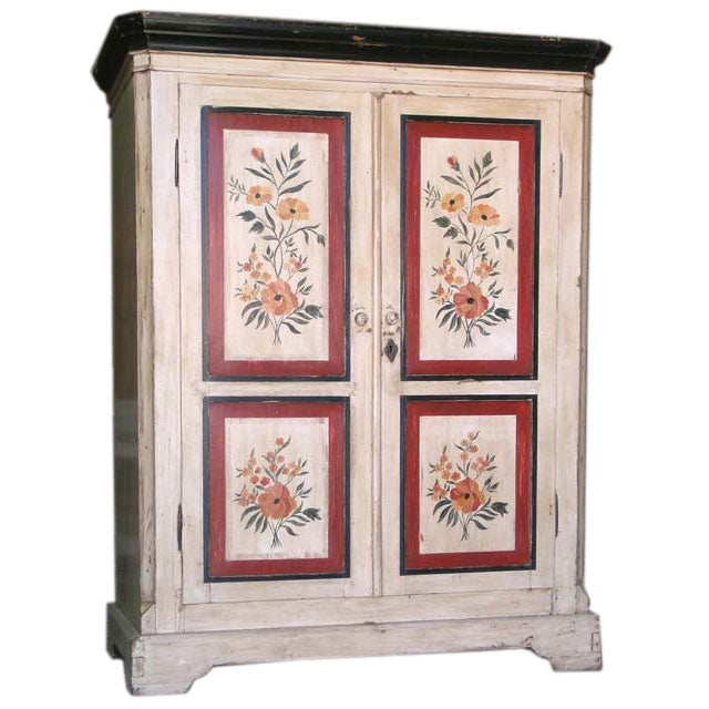Armoire Wardrobe : Painted Armoire or Wardrobe, circa 1840 at 1stdibs