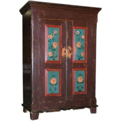 Folk Art Painted Armoire, circa 1850
