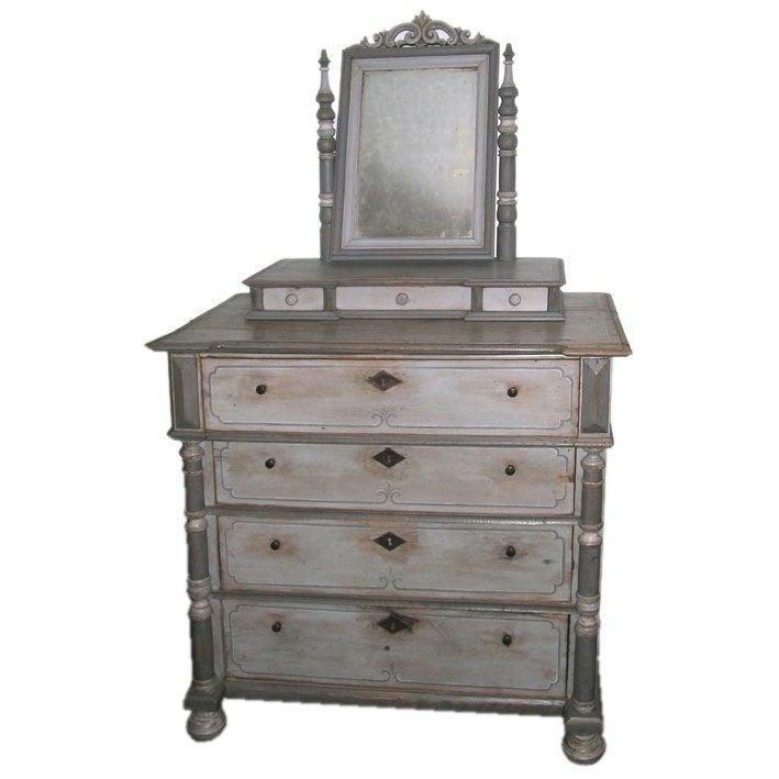 Antique Vanity Dresser In Gustavian Style At 1stdibs
