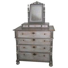 Antique Vanity Dresser in Gustavian Style