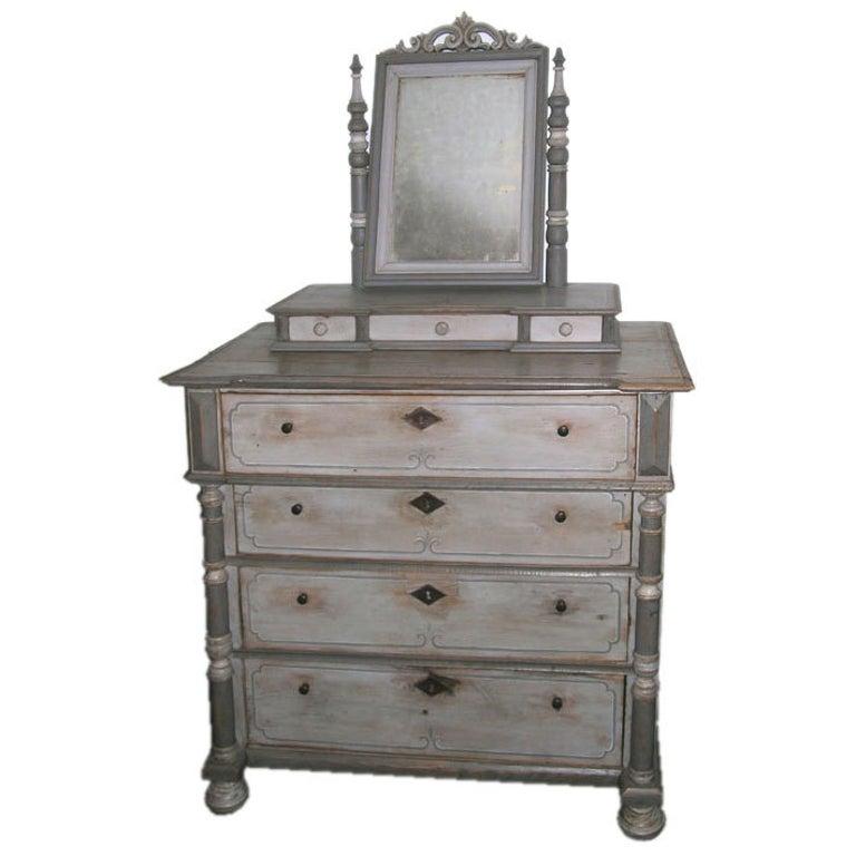 Antique Vanity Dresser In Gustavian Style For Sale At 1stdibs