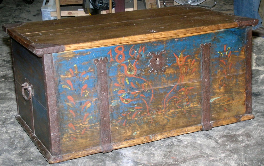Hope Chest Dowry Chest Dated 1864 Coffee Table At 1stdibs