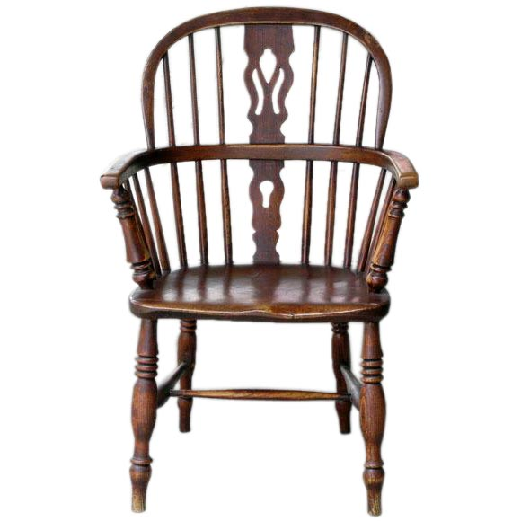George III Windsor Chair Yew And Elm Wood Ca 1820 At