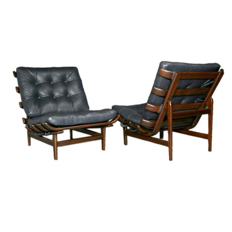 Pair Of Solid Jacaranda Bone Chairs By Martin Eisler At