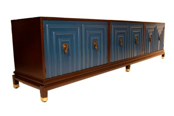 Long cabinet by bert england for johnson furniture at stdibs