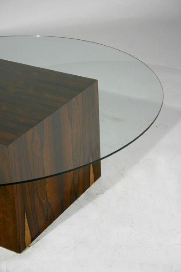 Rosewood Cube Glass Top Cocktail Table By Harvey Probber For Sale At 1stdibs