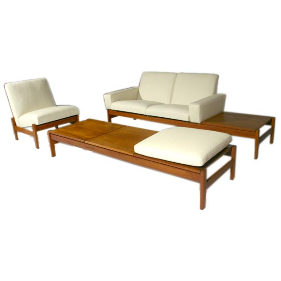 Danish Modern Living Room: Modular Danish Modern Living Room Suite In Teak At 1stdibs