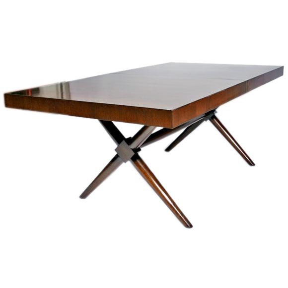 Robsjohn Gibbings X Base Walnut Dining Table At 1stdibs