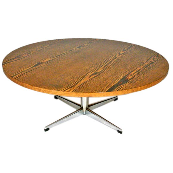 Round wenge coffee coffee table by friso kramer at 1stdibs Wenge coffee tables