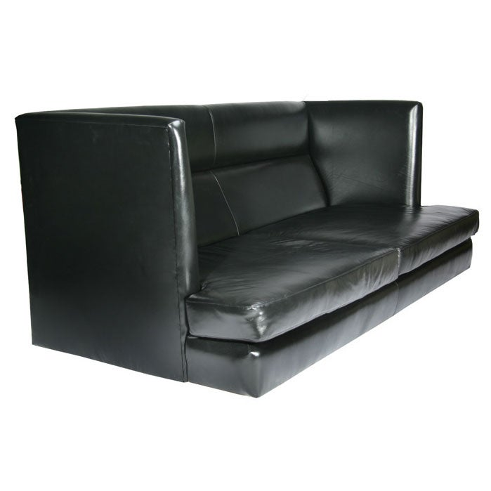 Milo Baughman - Massive, rare sofa designed by Milo Baughman :  leather home furniture sofas