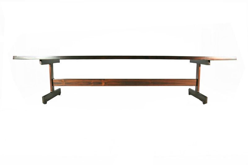 Long Solid Rosewood Dining Table By Sergio Rodrigues At 1stdibs