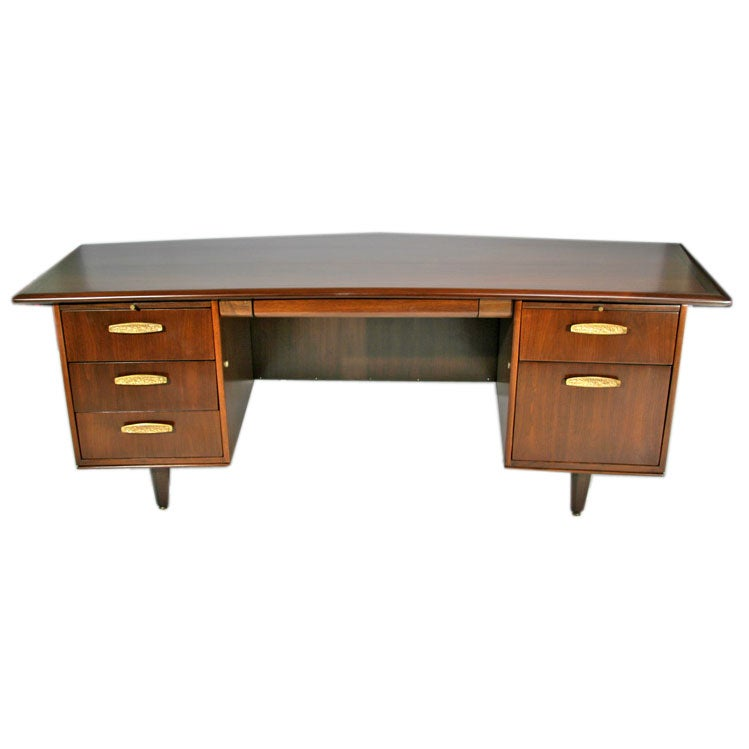 Large Scale Wing Shaped Executive Desk By Monteverdi Young