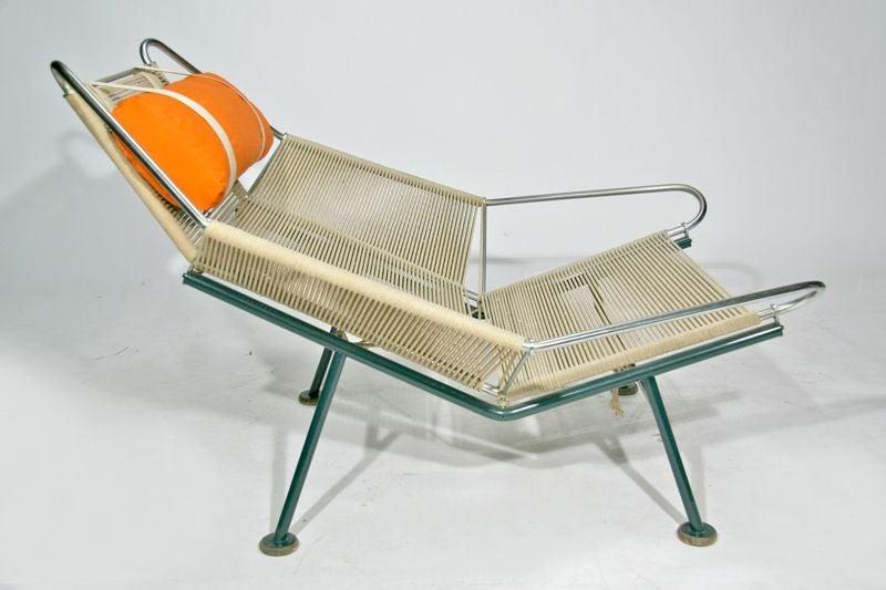 "Hans Wegner "" Flag Line "" Halyard Lounge Chair at 1stdibs"