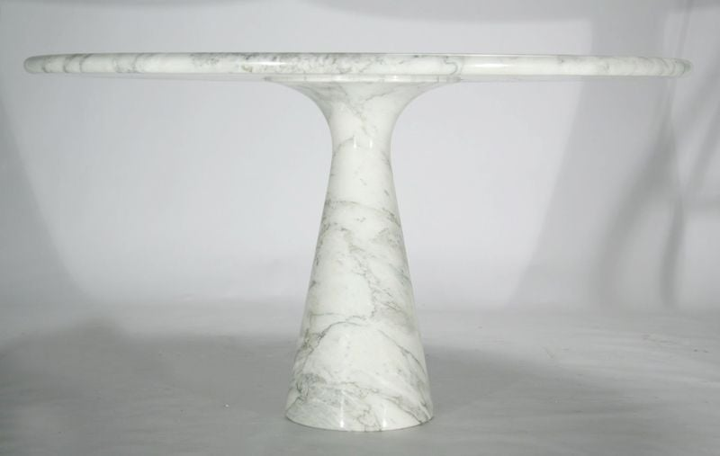 Round marble pedestal dining table by Angelo Mangiarotti  : mangiorottimarbletable3 from www.1stdibs.com size 800 x 507 jpeg 20kB