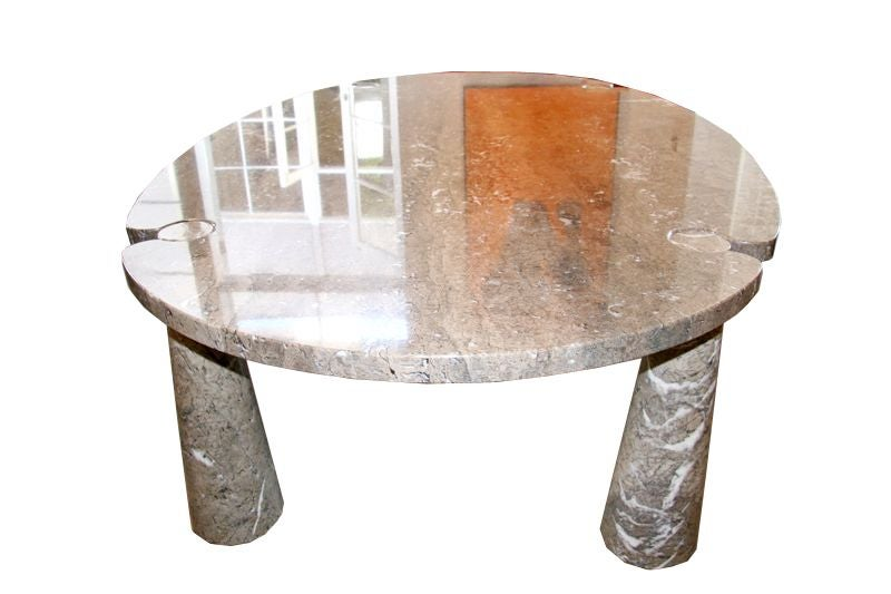 solid marble 39 eros 39 dining table by angelo mangiarotti at
