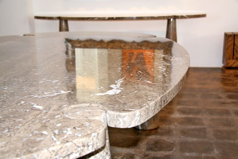 solid marble 39 eros 39 dining table by angelo mangiarotti at 1stdibs. Black Bedroom Furniture Sets. Home Design Ideas