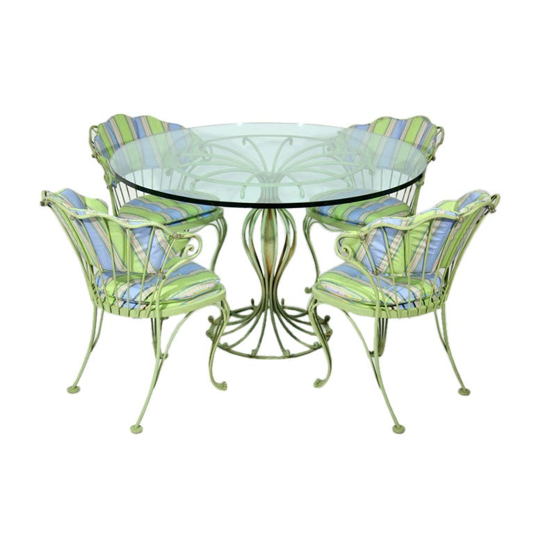 Rococo style outdoor set by Woodard