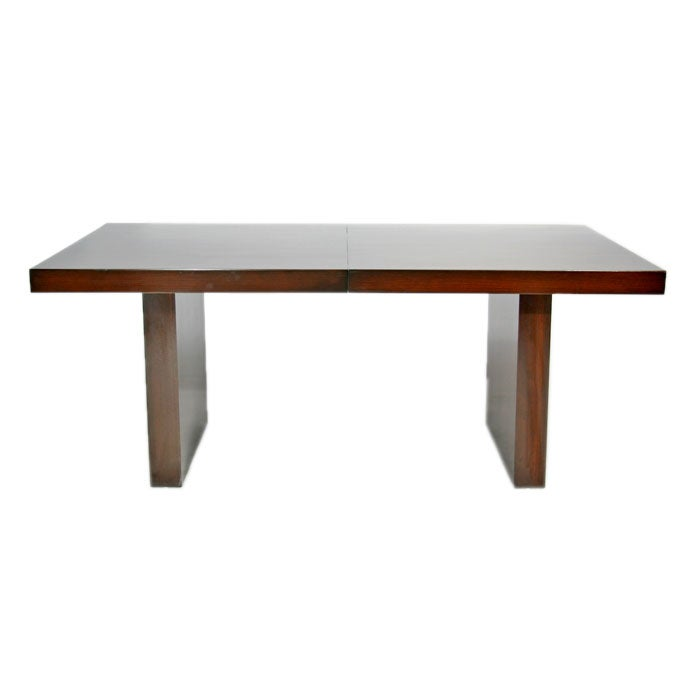 double pedestal mahogany dining table by milo baughman at 1stdibs