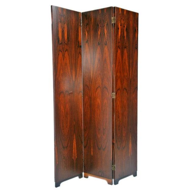 Tall rosewood folding screen at 1stdibs