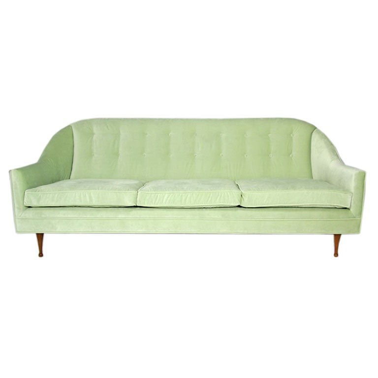 Crave Worthy Missoni Paulistano Armchair: A Celery Velvet Curved Sofa By Paul McCobb At 1stdibs