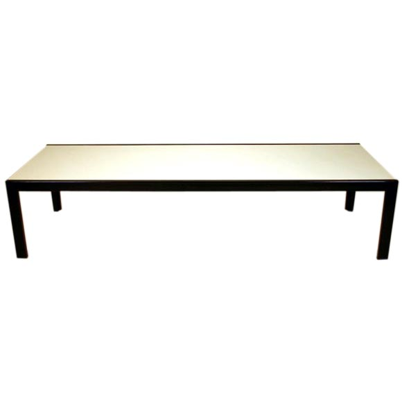White formica and steel coffee table by van keppel and green at 1stdibs Formica coffee table