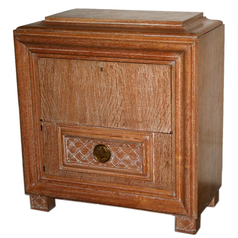 Limed Oak Cabinet / French. At 1stdibs