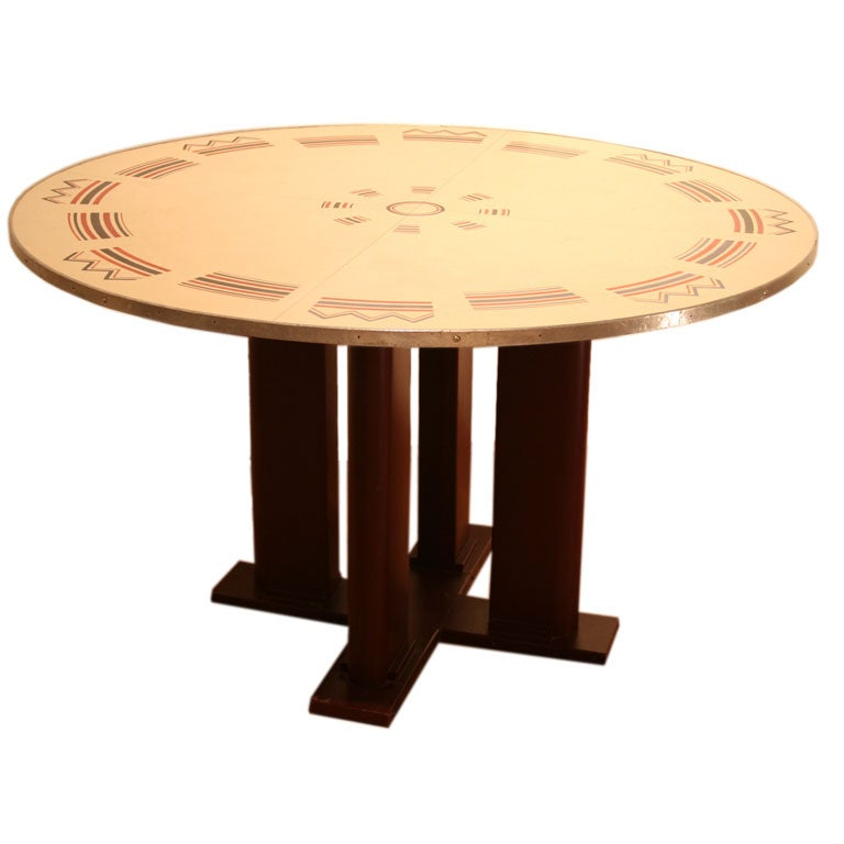Game table jean prouve and jules leleu at 1stdibs - Table basse jean prouve ...