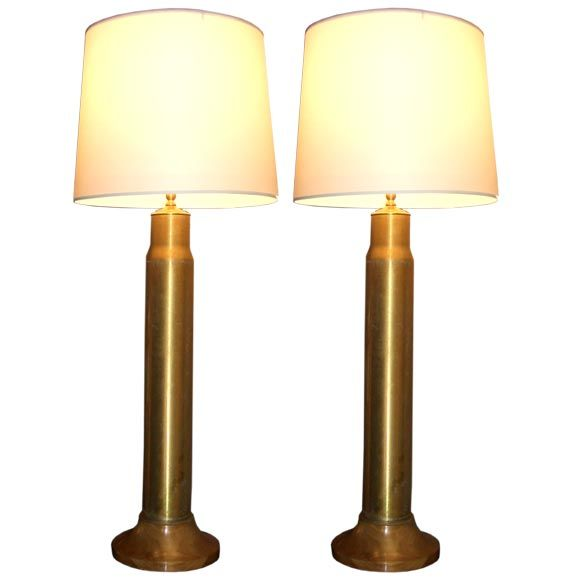 Pair Of 43 WWII Artillery Shell Lamps At 1stdibs