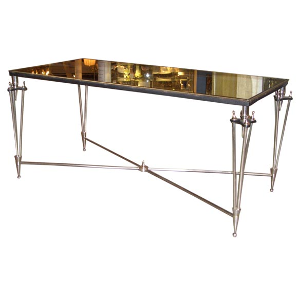 silver and mercury glass coffee table at 1stdibs. Black Bedroom Furniture Sets. Home Design Ideas