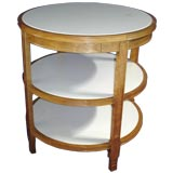 Three-Tier Table with Marble Inserts in the Manner of JMF