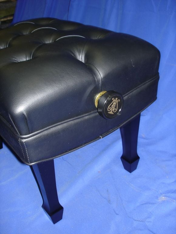 Steinway Concert Grand Adjustable Piano Bench At 1stdibs