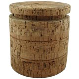 A Mid Century Solid Cork Ice Bucket with liner.