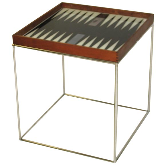 Modern backgammon table at 1stdibs for Contemporary game table and chairs