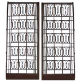 A set of two large Art Deco Gates attributted to Poillerat