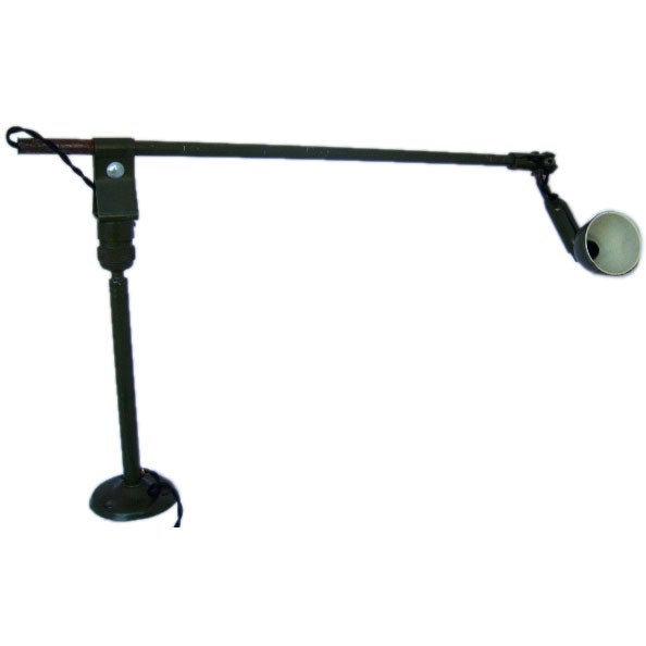 Wall Extension Light : An Industrial Extension Arm light at 1stdibs